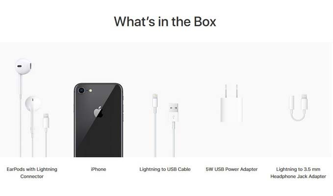 what comes in iphone 8 box