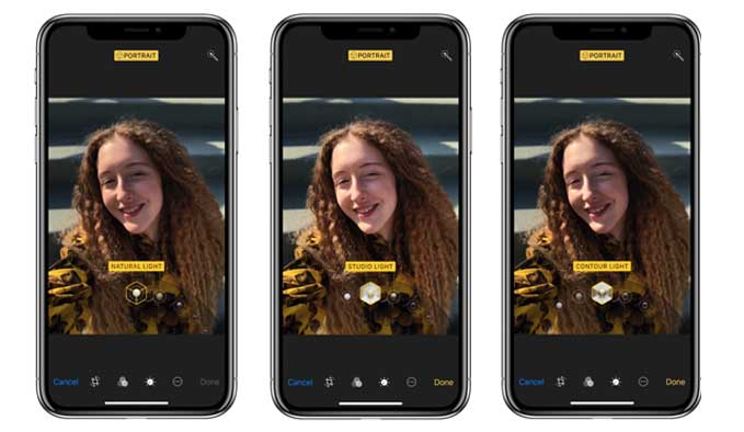 use portrait lighting feature on iphone 8