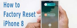 factory reset iphone 8
