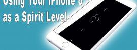 iphone 8 spirit level