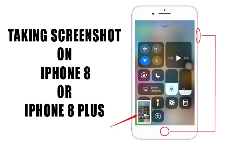 take screenshot on iphone 8