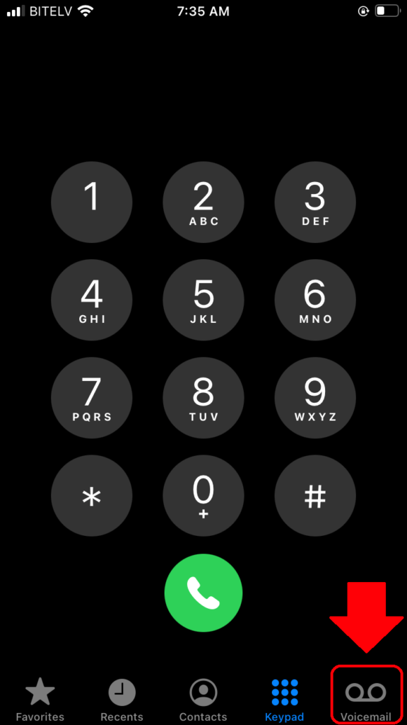 voicemail icon iphone 8